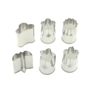 Kotobuki Set of 6 Small Stainless Vegetable Cutters