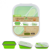 Smart Planet EC-34 Small Eco Silicone Collapsible Lunch Box, Green