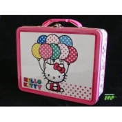 Hello Kitty Ballons Embossed Figurine Tin Lunch Box CLASSIC COLLECTABLE [Official Licenced Merchandise] New 2011!!!