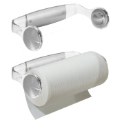 InterDesign Forma 2 Wall Mount Paper Towel Holder, Brushed Stainless Steel