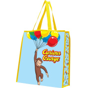 Vandor 49073 Curious George Balloons Recycled Shopper Tote, Large, Multicoloured