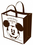 Disney Vintage Mickey Mouse Tote Bag -Large Woven Reusable Tote