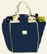 Pack-N-Tote Grocery Cart Helper Bag, Blue