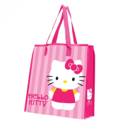Vandor 18273 Hello Kitty Recycled Shopper Tote, Large, Pink