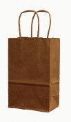 100 Rose / Prime Natural Kraft Shopping Bags with Handle, 5-0.6cm X 3-1.3cm X 8-1.3cm Tall