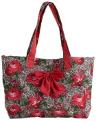 Jessie Steele Leopard Floral Tote Bag with Bow