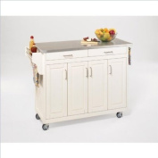 Home Styles 9200-1022 Create-a-Cart 9200 Series Cabinet Kitchen Cart with Stainless Steel Top, White Finish