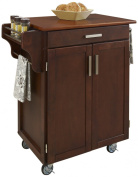 Home Styles Cuisine Cart, Cherry Finish with Oak Top