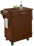 Home Styles Cuisine Cart, Warm Oak Finish with Oak Top
