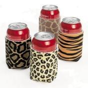 Leopard/animal Print Can Insulator Koozies