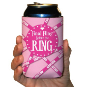 """Bachelorette Drink Koozies -""""Final Fling..."""" - For Party of 6!"""