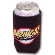 Big Bang Theory Bazinga Black Bottle Can Koozie