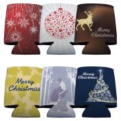 Christmas Themed Koozie Set - 6 Designs - Set of 6