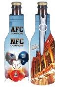 Super Bowl XLVI 46 Duelling Helmets Match Up New York Giants vs New England Patriots 2011 - 2012 Bottle Suit Koozie Cooler