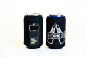 Hat Trick Openers Can Cooly Combo with Attached Cheers Logo, Black Neoprene