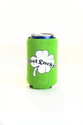 Hat Trick Openers Can Cooly Combo with Attached Feel Lucky Logo, Green Neoprene