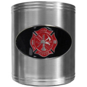 Siskiyou Gifts Firefighter Steel Can Cooler