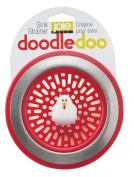Joie Doodle Doo Kitchen Sink Strainer Basket, Rooster, 11cm