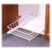 Under Sink Pull Out Basket - wire (White)