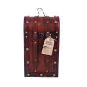 True Fabrications Treasure Chest Wood Wine Box 2 Bottle Wine Holder