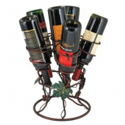 True Fabrications Antique Cyclone Wine Rack, 6-Bottles