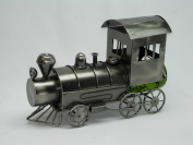 Fabulous Genunie Hand Made Caddy The Train Metal Wine Bottle Holder