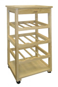 ORE International F-2002 Wooden Wine Rack with Wheels [Misc.] # F-2002