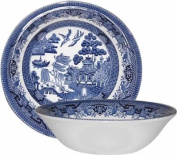 Churchill China Blue Willow Oatmeal Bowl