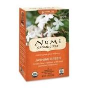 NUMI Organic Tea Green Tea, Organic, 18 Bags/BX, Jasmine Green SKU-PAS931877