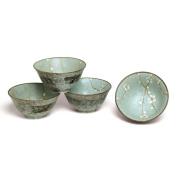 Japanese Spring Blossom Flared Bowl Set includes 4 Bowls