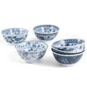RSVP 470ml Decorative Japanese Porcelain Bowls, Set of 6