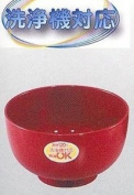 Plastic Lacquer Rice Bowl Red #4255