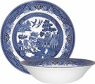 Churchill China Blue Willow 24cm Salad Bowl