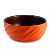 Enrico 3100MS5080 Mango Salad Bowl, Spiral, Tangerine Orange