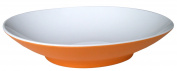 Mebel EC14-M02MV-ORA Oblong Soup Plate in 2-Tone, Outside Orange Inside White