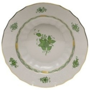 Herend Chinese Bouquet Green Rim Soup