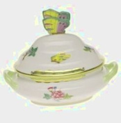 Herend Queen Victoria Mini Tureen With Butterfly