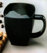 Squares Plastic 240ml Coffee Cups, Black 8 Per Pack