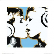 Steez Girls Kissing Erotic Sexy Urban Graffiti Music Art Poster Print 16x16