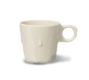 G.E.T. Supermel I Conic 7-1/60ml Tan Stacking Melamine Cup - Case = 48