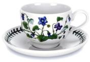 Portmeirion Botanic Garden - 210ml Teacup & Saucer (Traditional shape) - new motifs - Set of 6