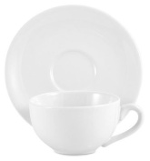 Amsterdam Tea Cup and Saucer - White
