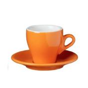 Nuova Point Milano Collection Set of 6 Espresso Cups in Orange
