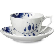 Royal Copenhagen Blue Fluted Mega Tea Cup Saucer