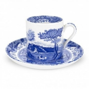 Spode Blue Italian Coffee Cup & Saucer