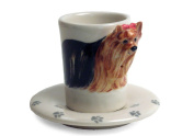 Yorkshire Terrier Espresso Cup And Saucer