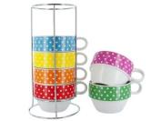 Present Time Tower Mini Dots Ceramic Café Latte XL Cups