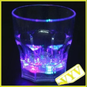 Dayday@dreamlike LED Plastic Activated Flashing Whiskey Cup Wine Mug for Party House Decor