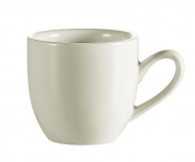 CAC China REC-35 Rolled Edge 6.4cm Stoneware A.D. Cup, 100ml, American White, Box of 36