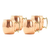 Old Dutch 470ml Solid Copper Hammered Moscow Mule Mug, Set of 4
